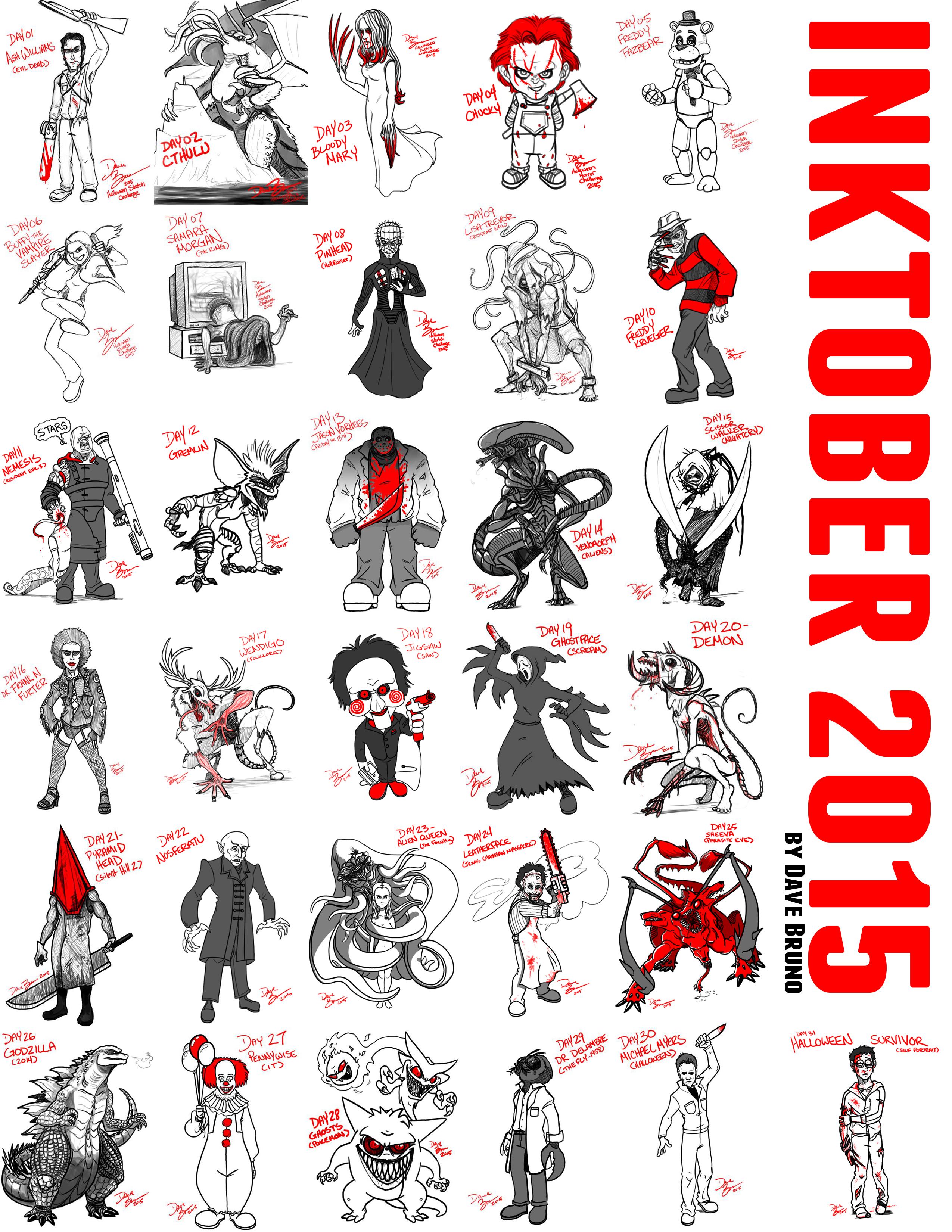 Dave Bruno's Inktober 2015