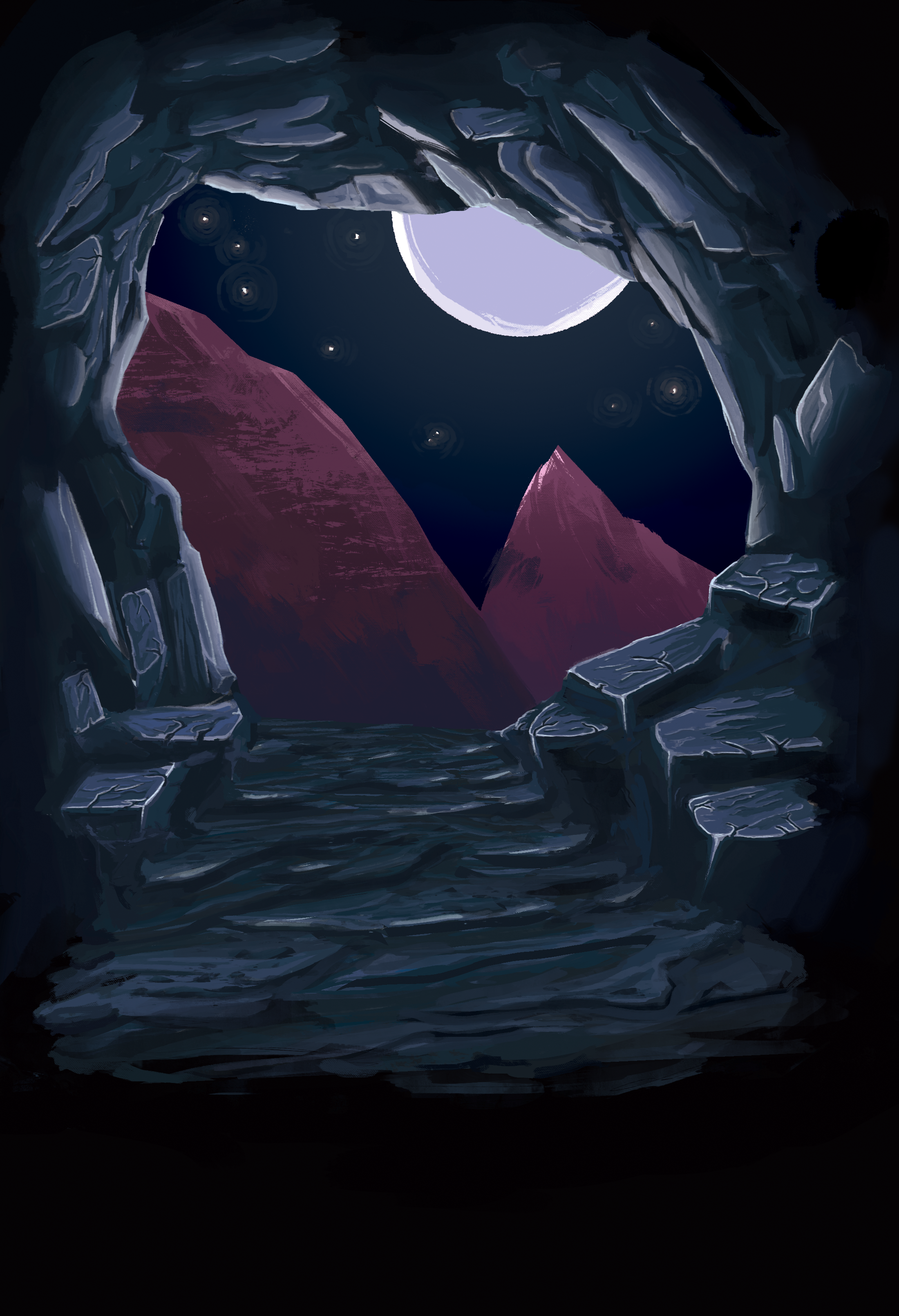 Moody cave