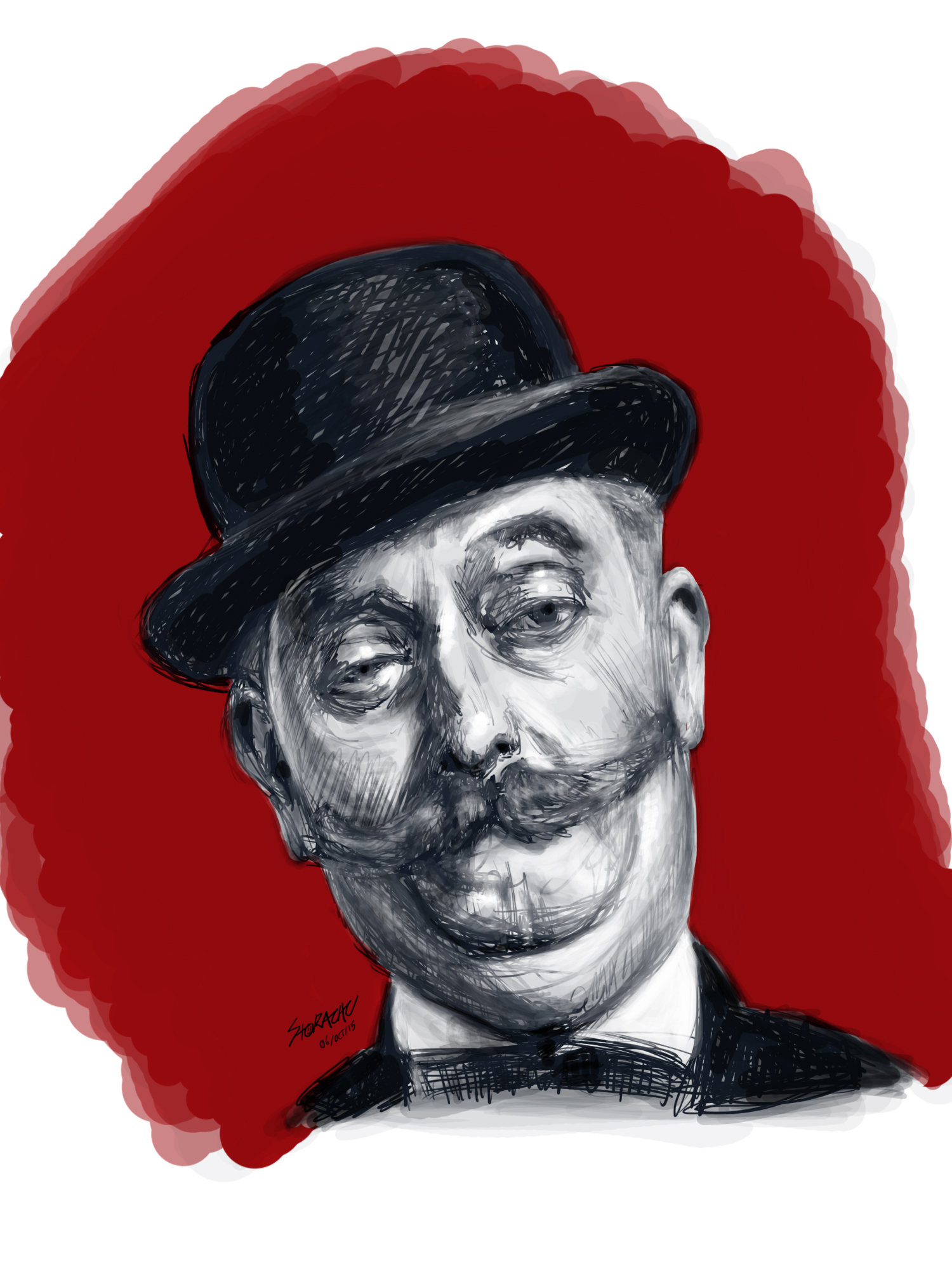 Bowler Hat Man 1st study - realistic