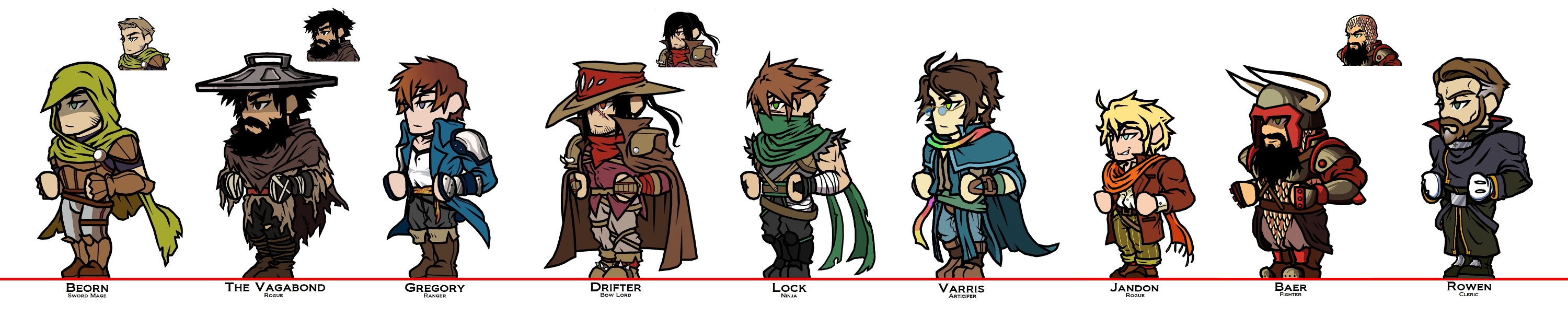 Dungeons and Dragons Roster