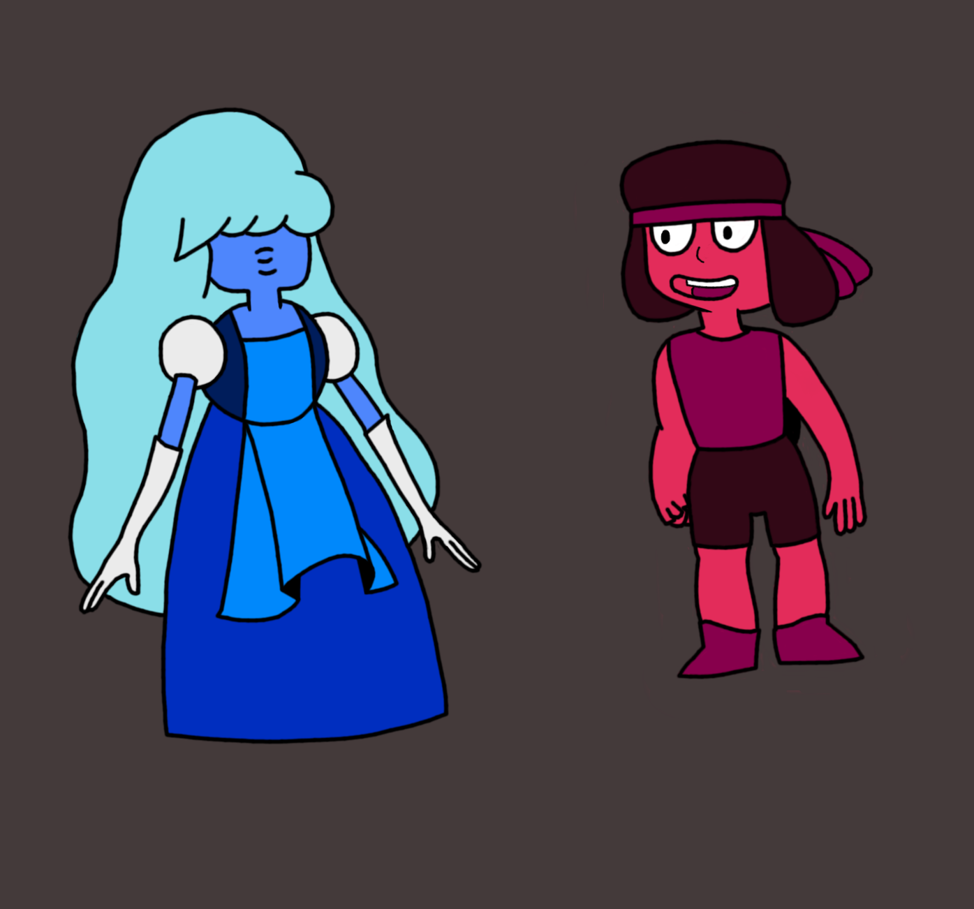 Ruby and Sapphire, the Two Cutest Gems
