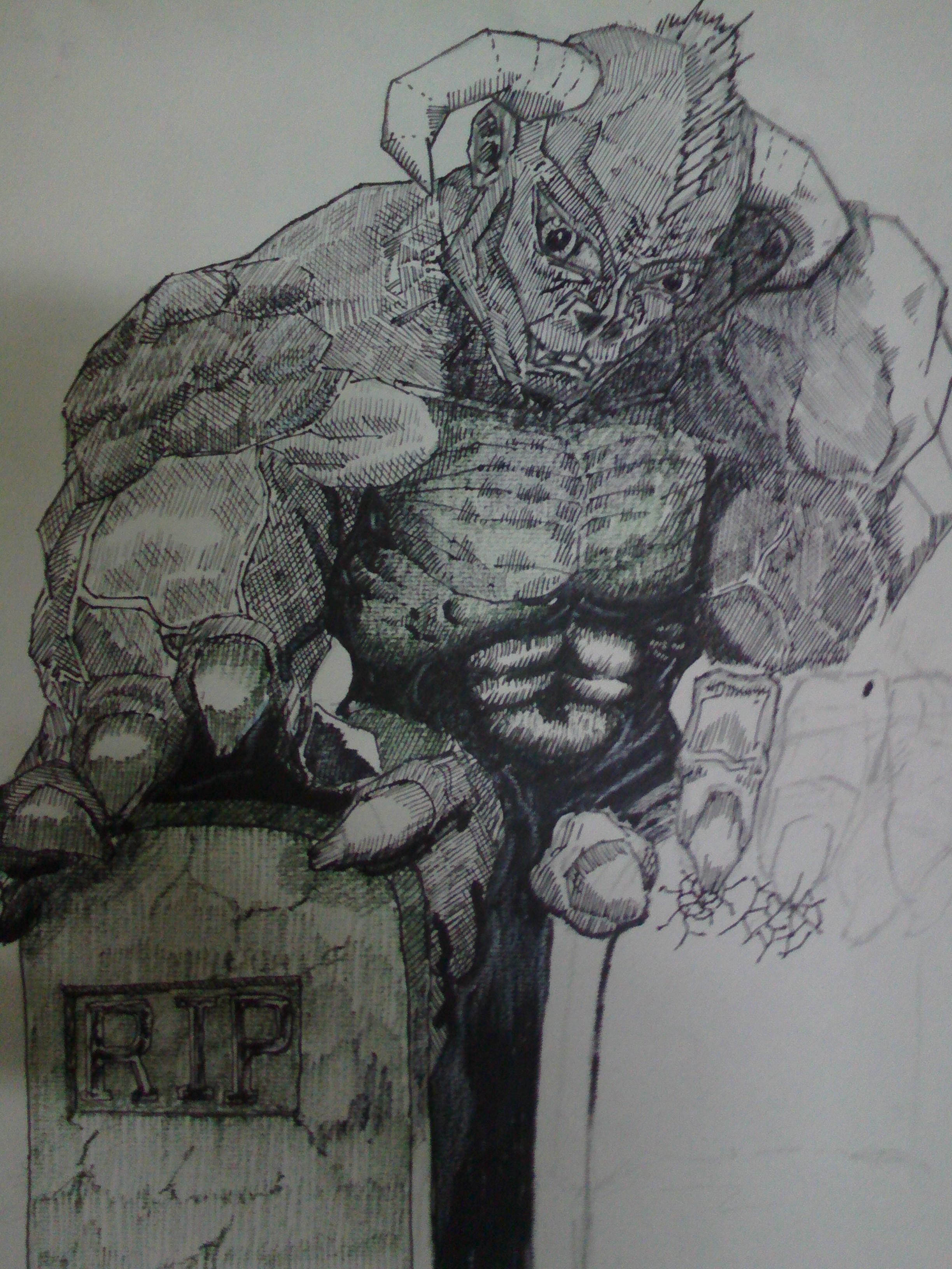 grimataur mobile foto sketch