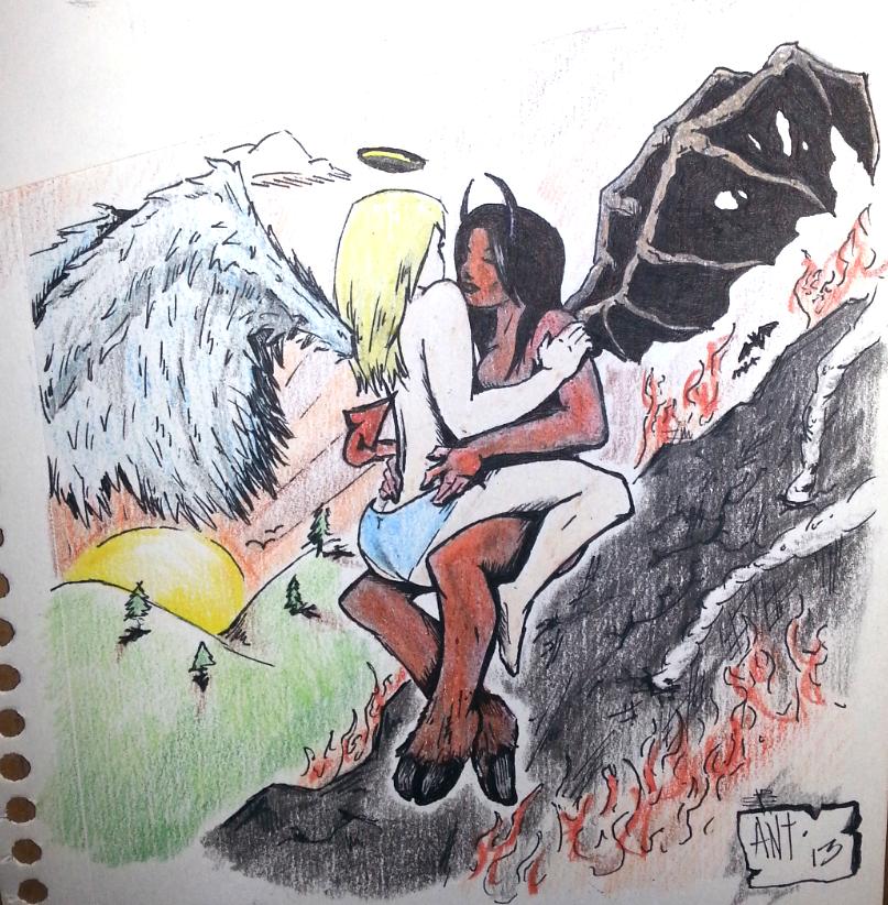 Sketchy Demon vs Angel