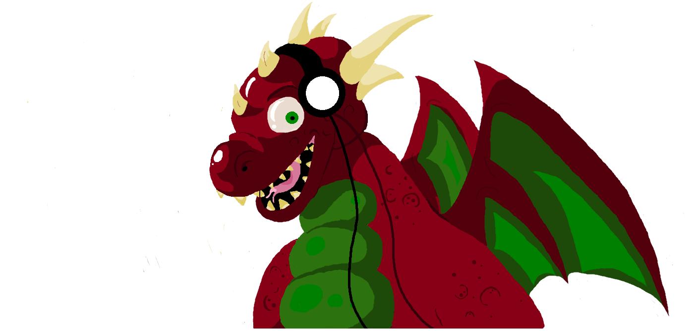 Welsh dragon MS paint 1st