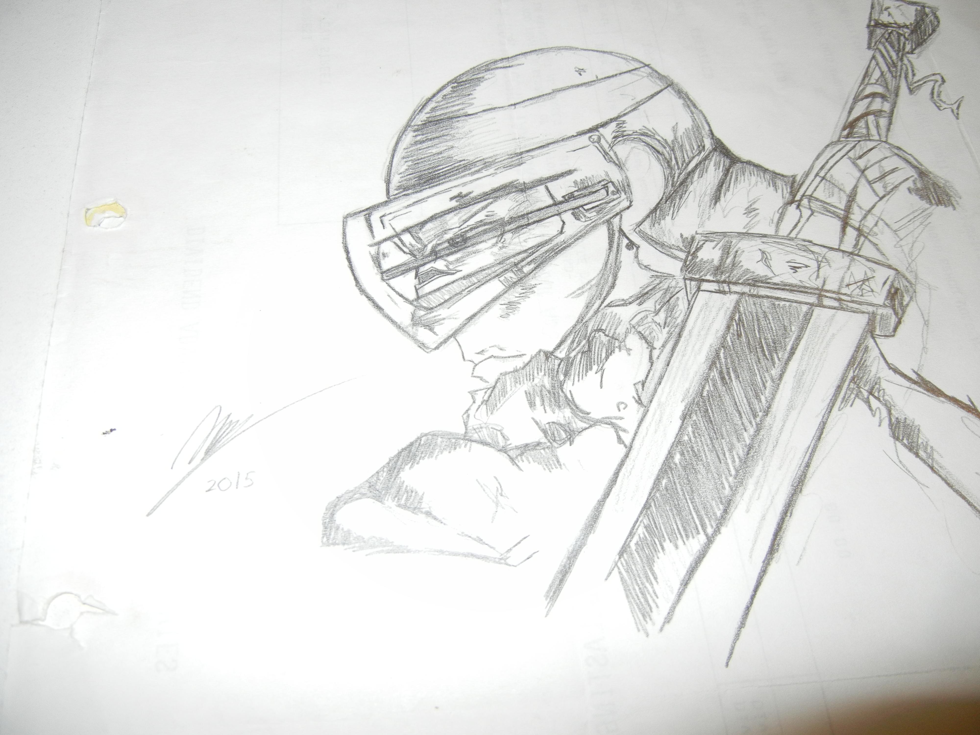 Guts: The Black Swordsman (Berserk) - Pencils