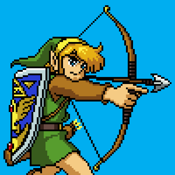 Link with bow and arrow
