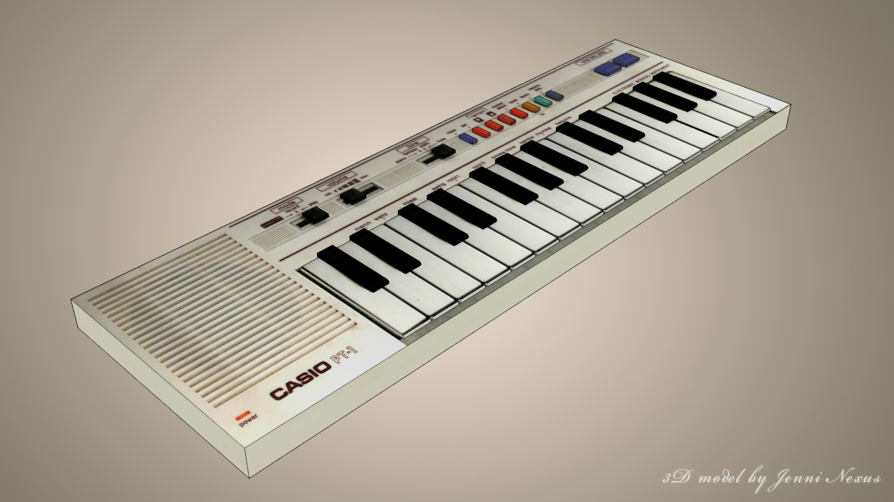 3D Casio Keyboard