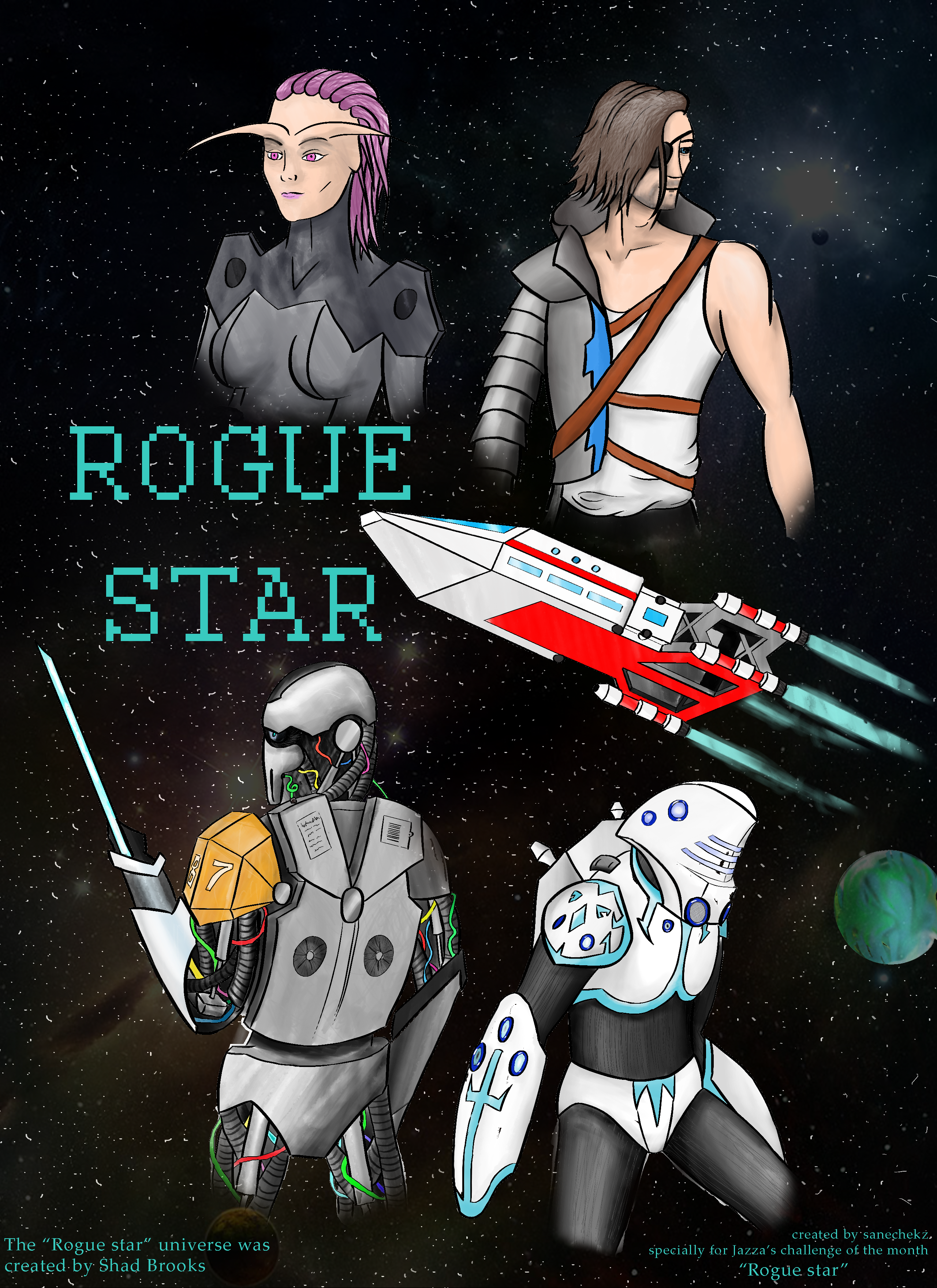 """Poster for """"Rogue star"""""""