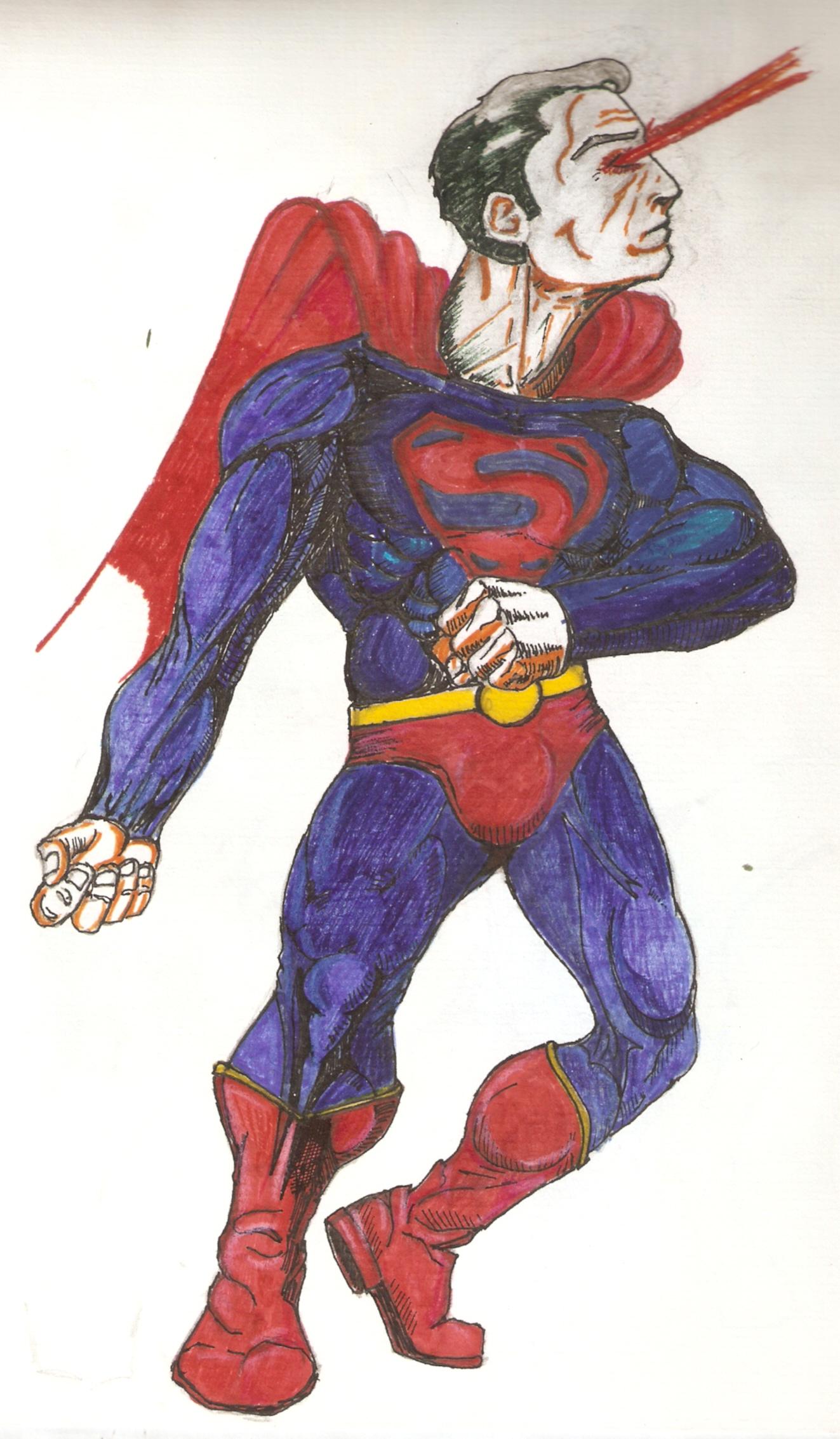 superman mixed technics
