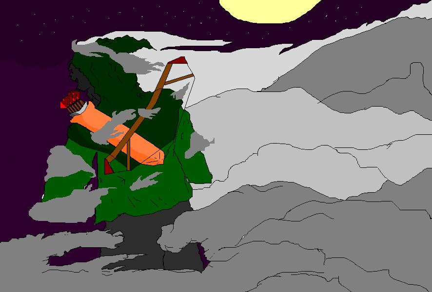Night Archer in Paint