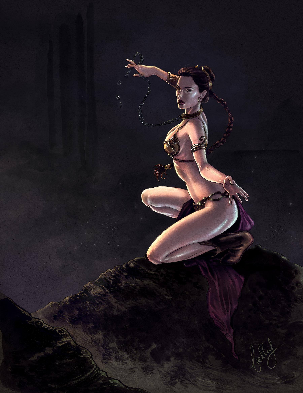 Gal Gadot as princess Leia