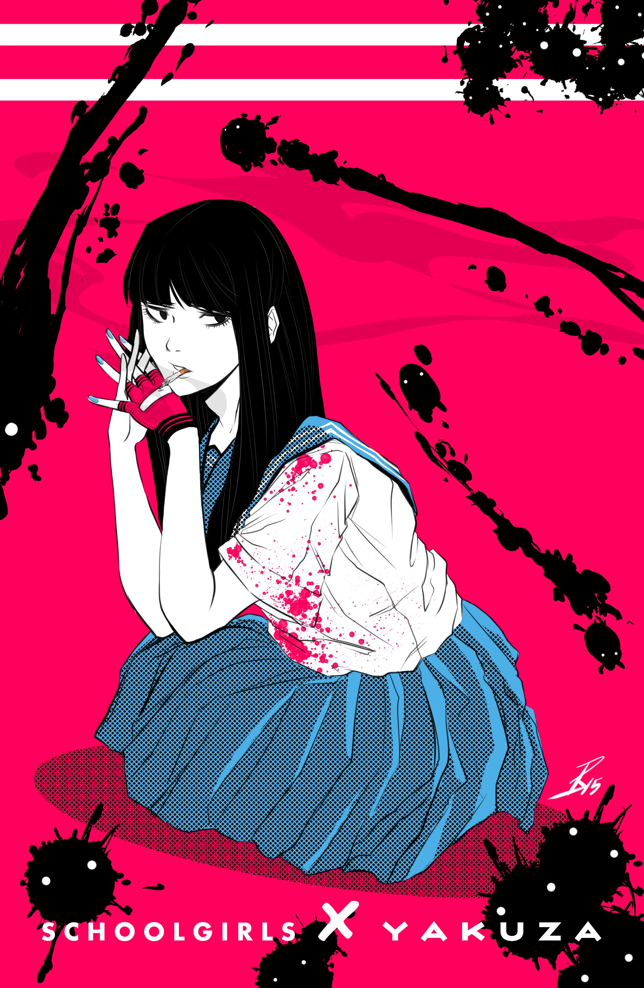 Schoolgirl X Yakuza (Smoking)