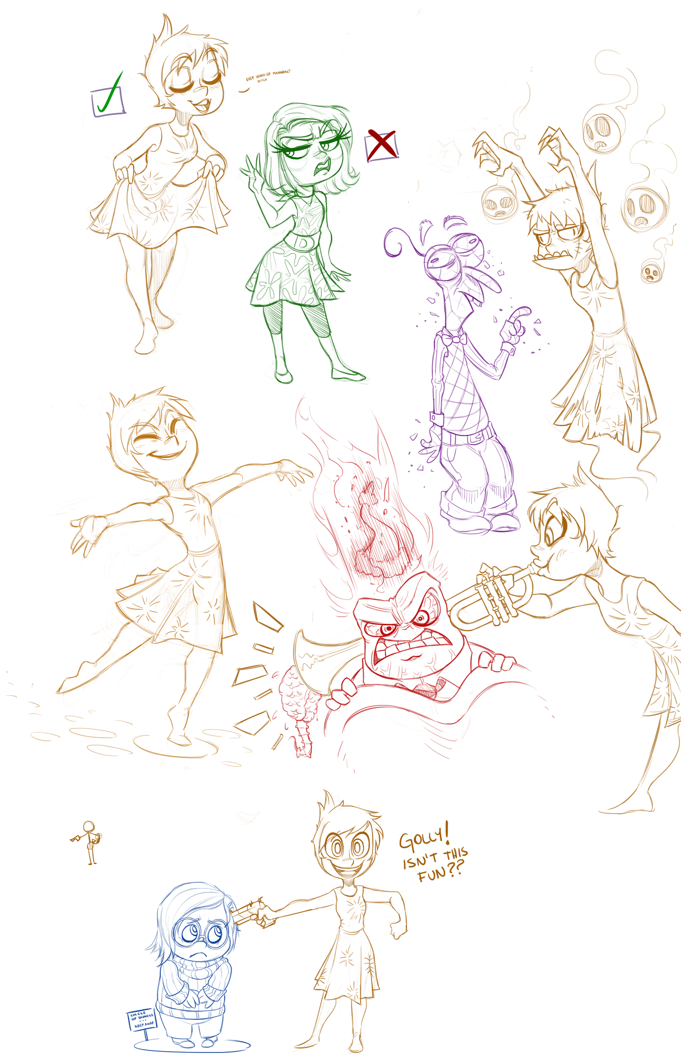 Joyful Animosity Sketches