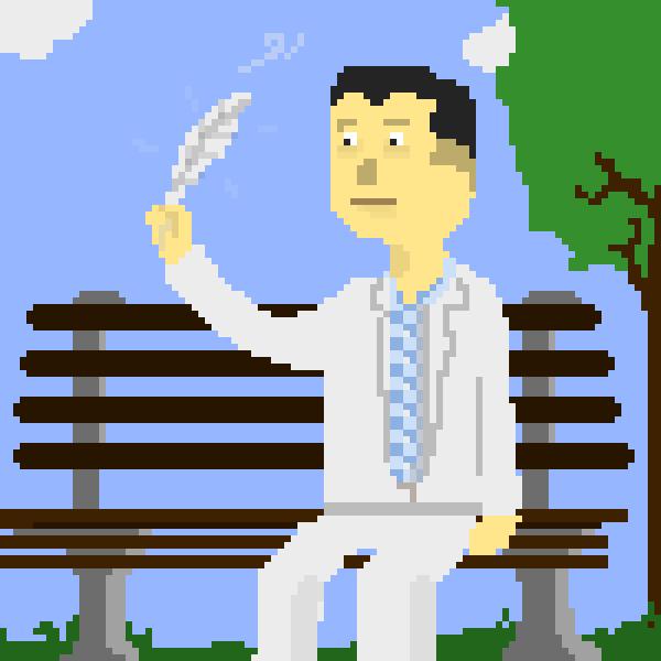 Famous Feather - Pixel Art