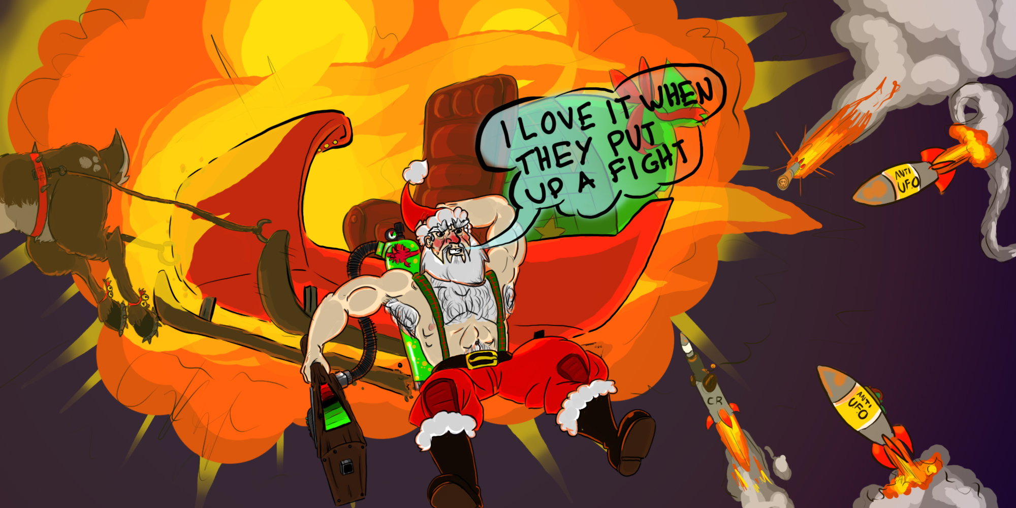 Epic Santa is ready for war