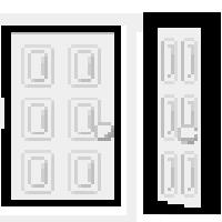 Two White Doors