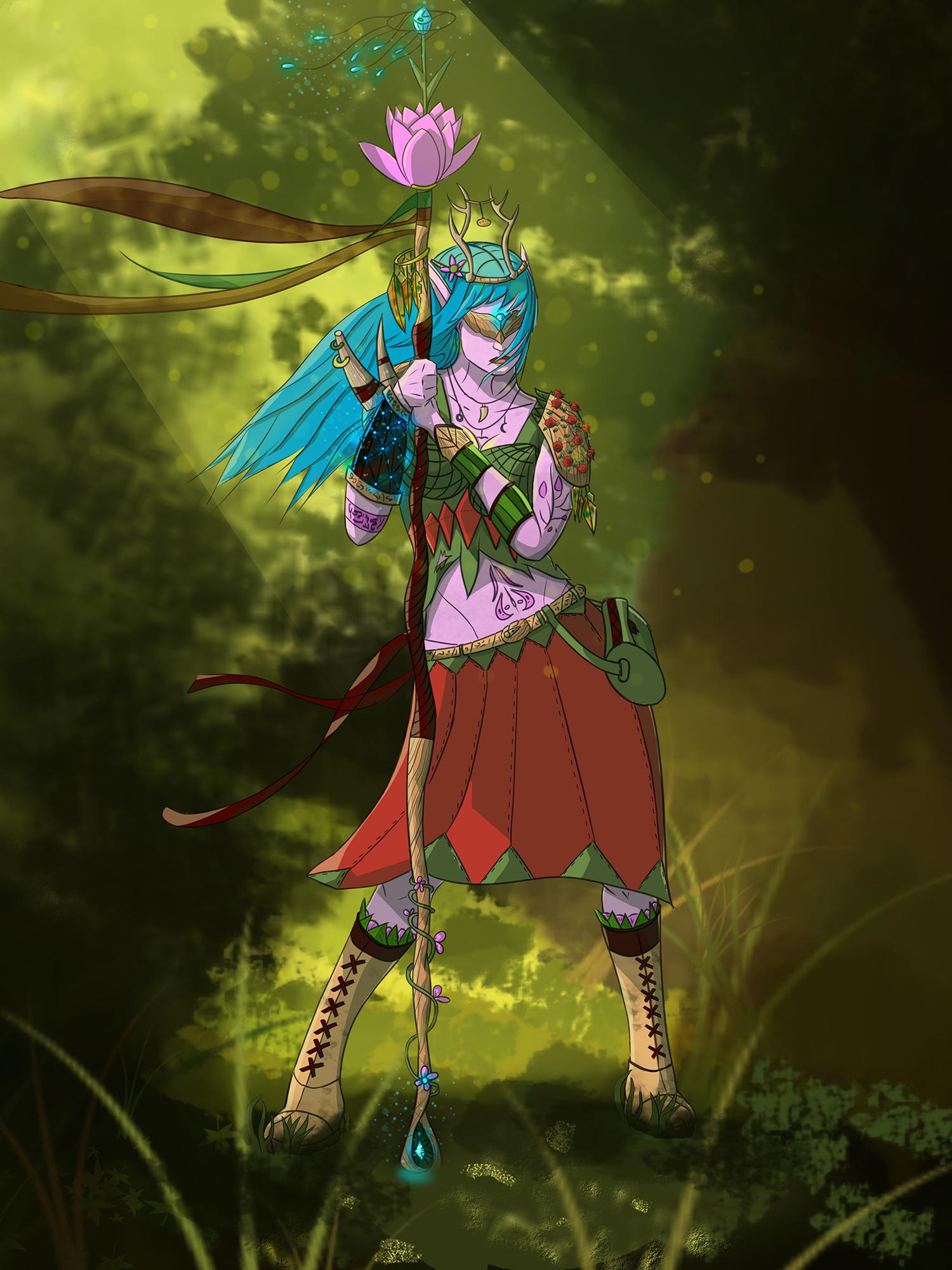 A blind druid