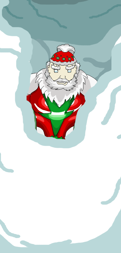 Super santa (unfinished , the snow is like a cover for the body part that i cant finish )