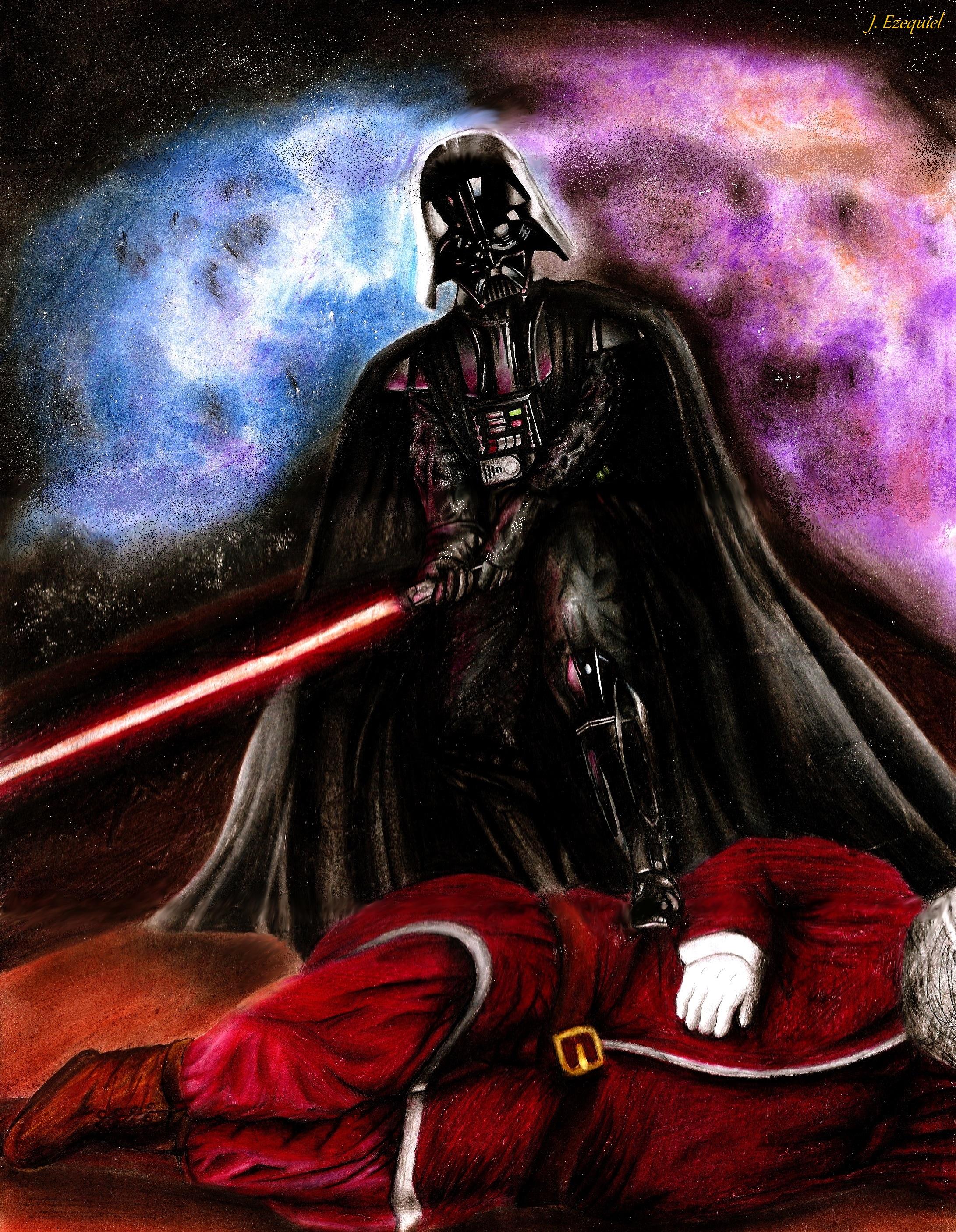 Darth Vader beating Christmas