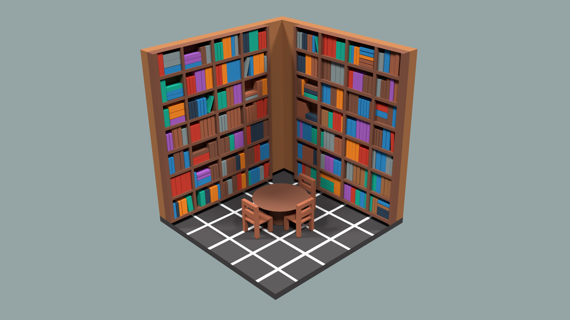 The Library (Low-Poly)