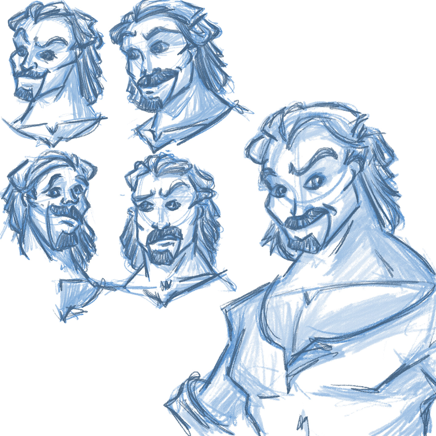 Male protagonist character concept