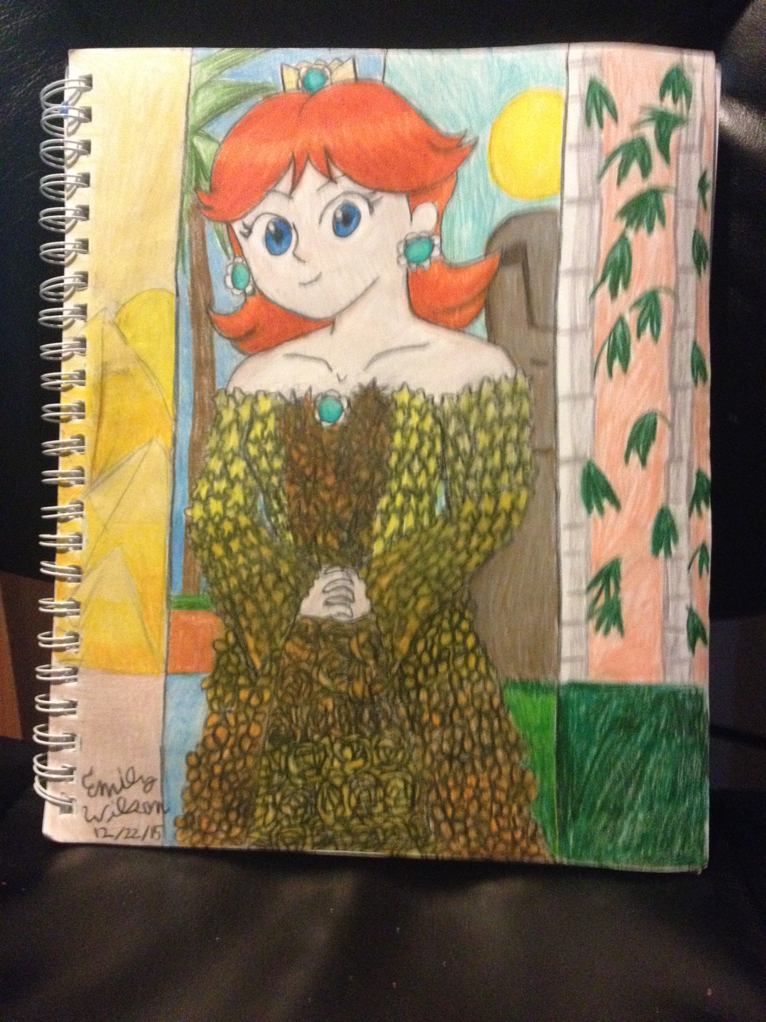 Sketchbook Drawing 18 - Daisy, Queen of Sarasaland