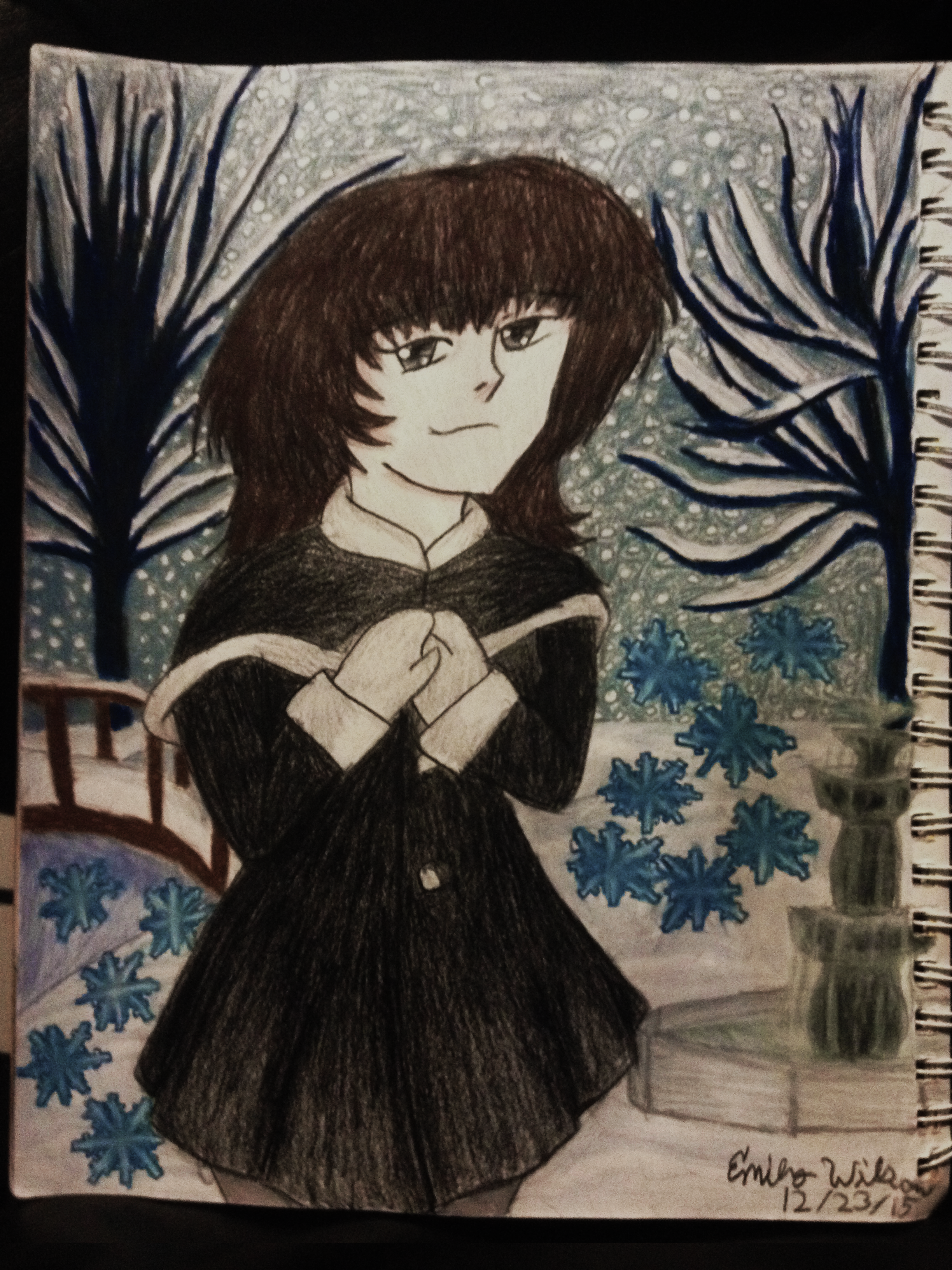 Sketchbook Drawing 19 - Beginning of Winter!