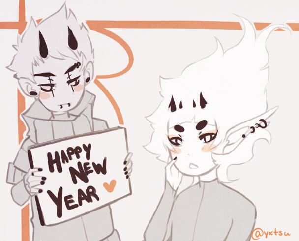 happy new years doodle