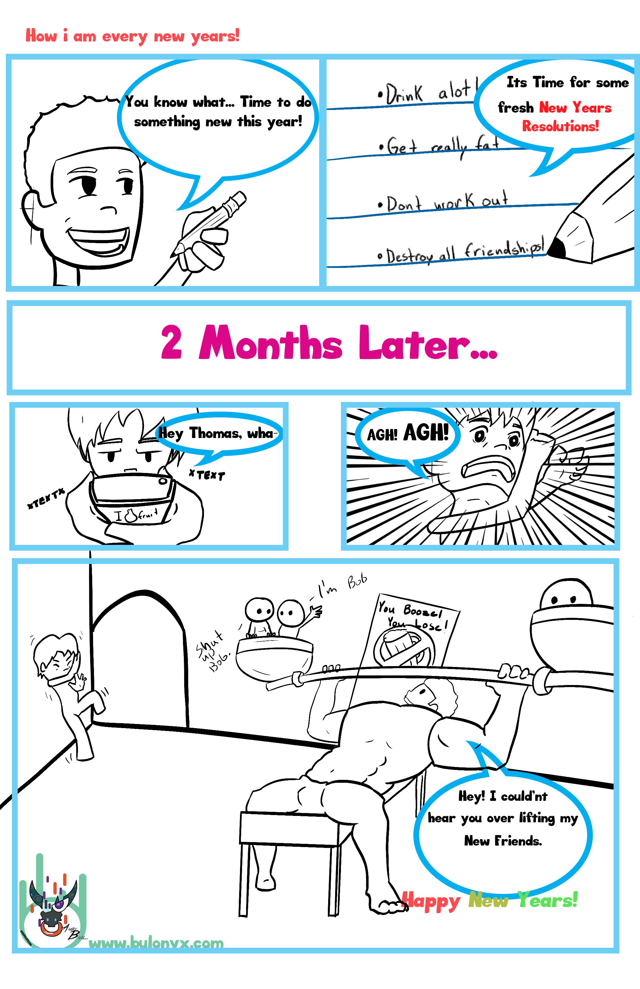 New years comic