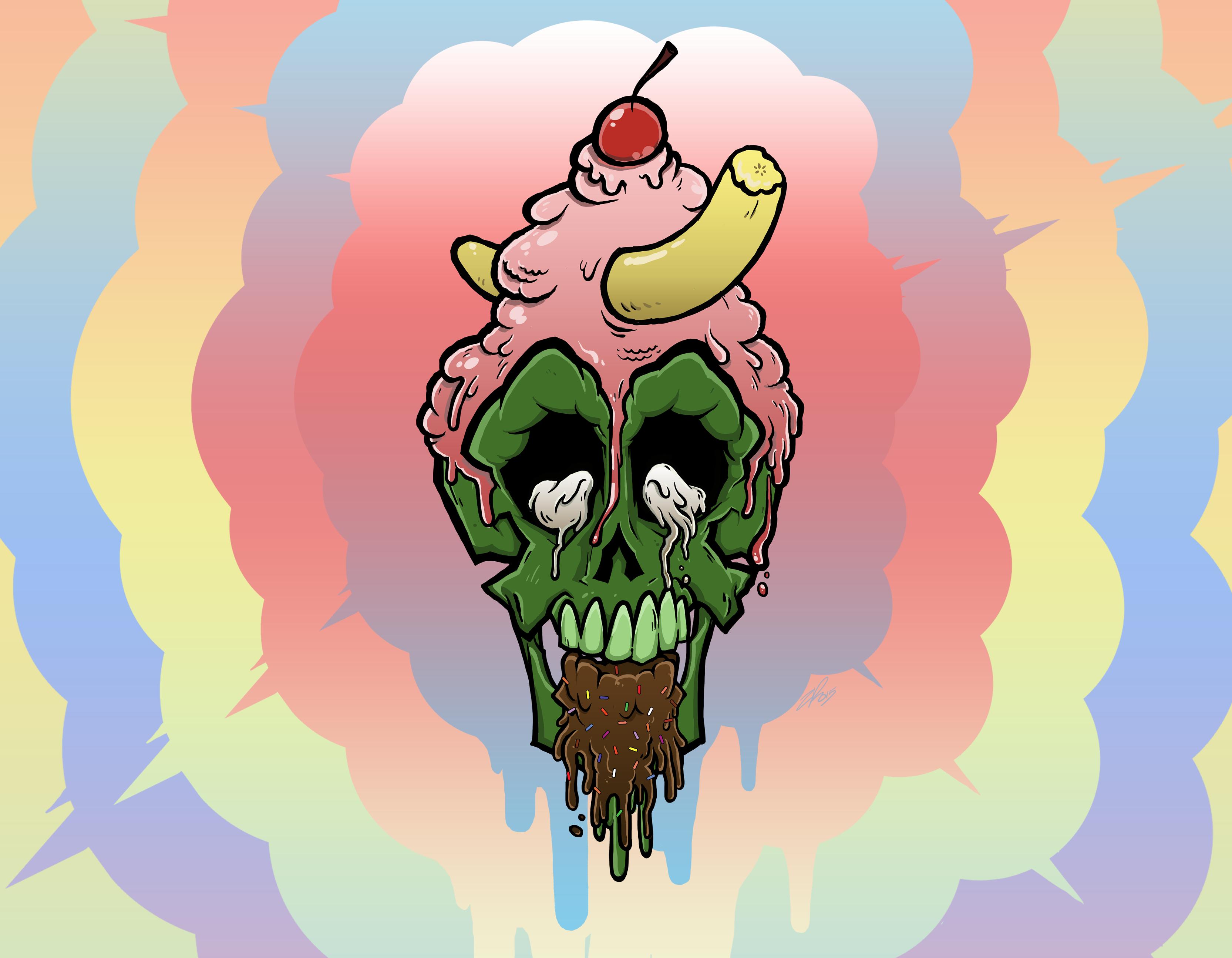 Ice Cream Skull #01 - BG Variant #03