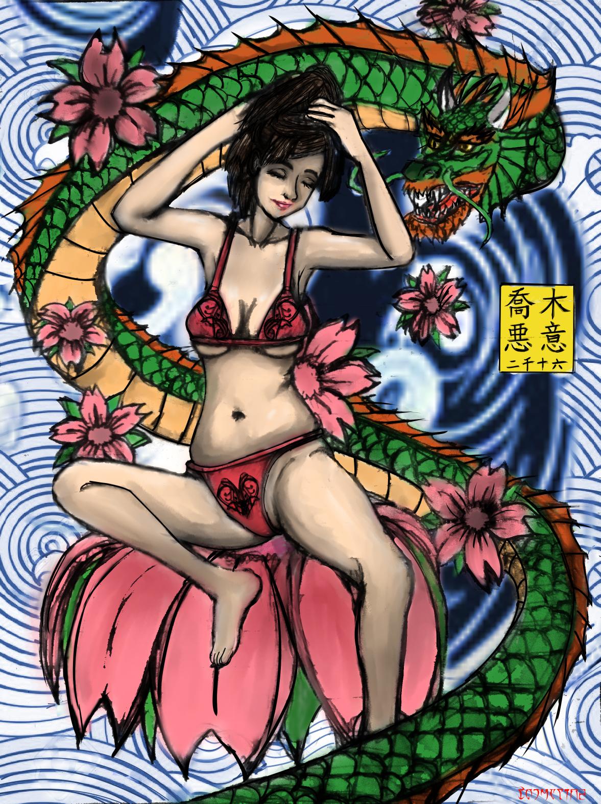 a semi irezumi style tattoo design