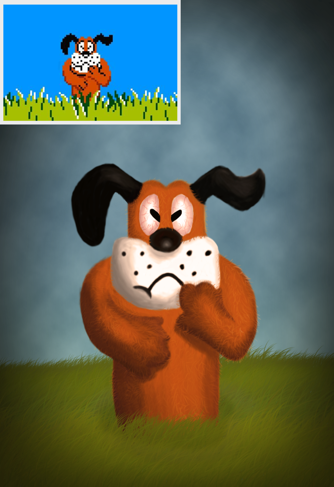 "A Dog From A Game ""Duck Hunt"""