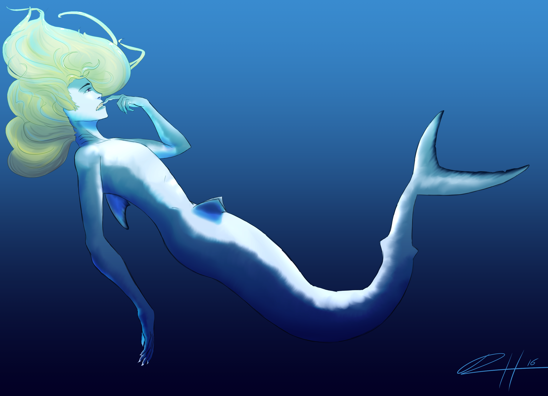 A mermaid except it's a shark