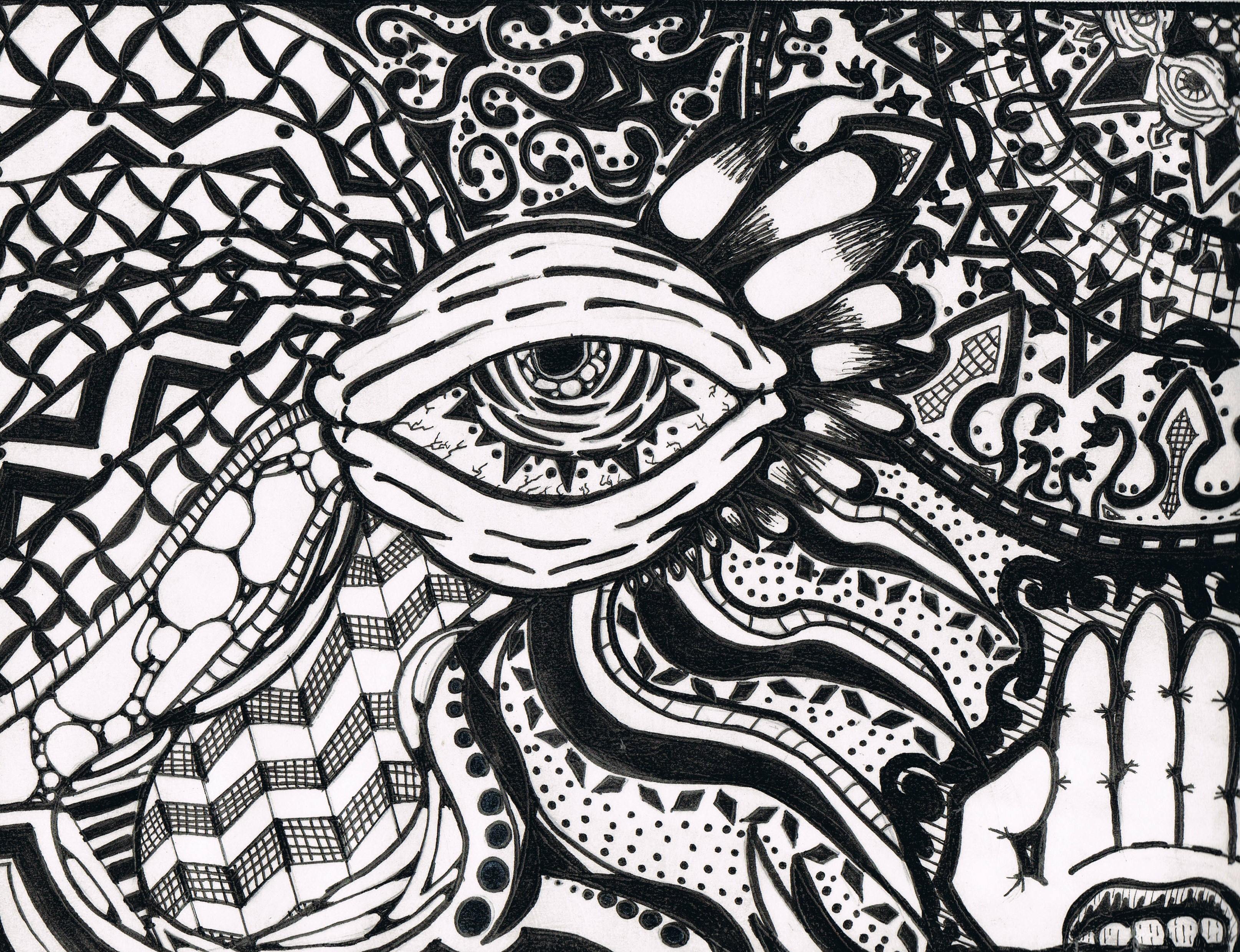 Zentangle Eyeball