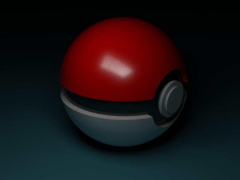Pokeball (software used - 3dsMax 2010)