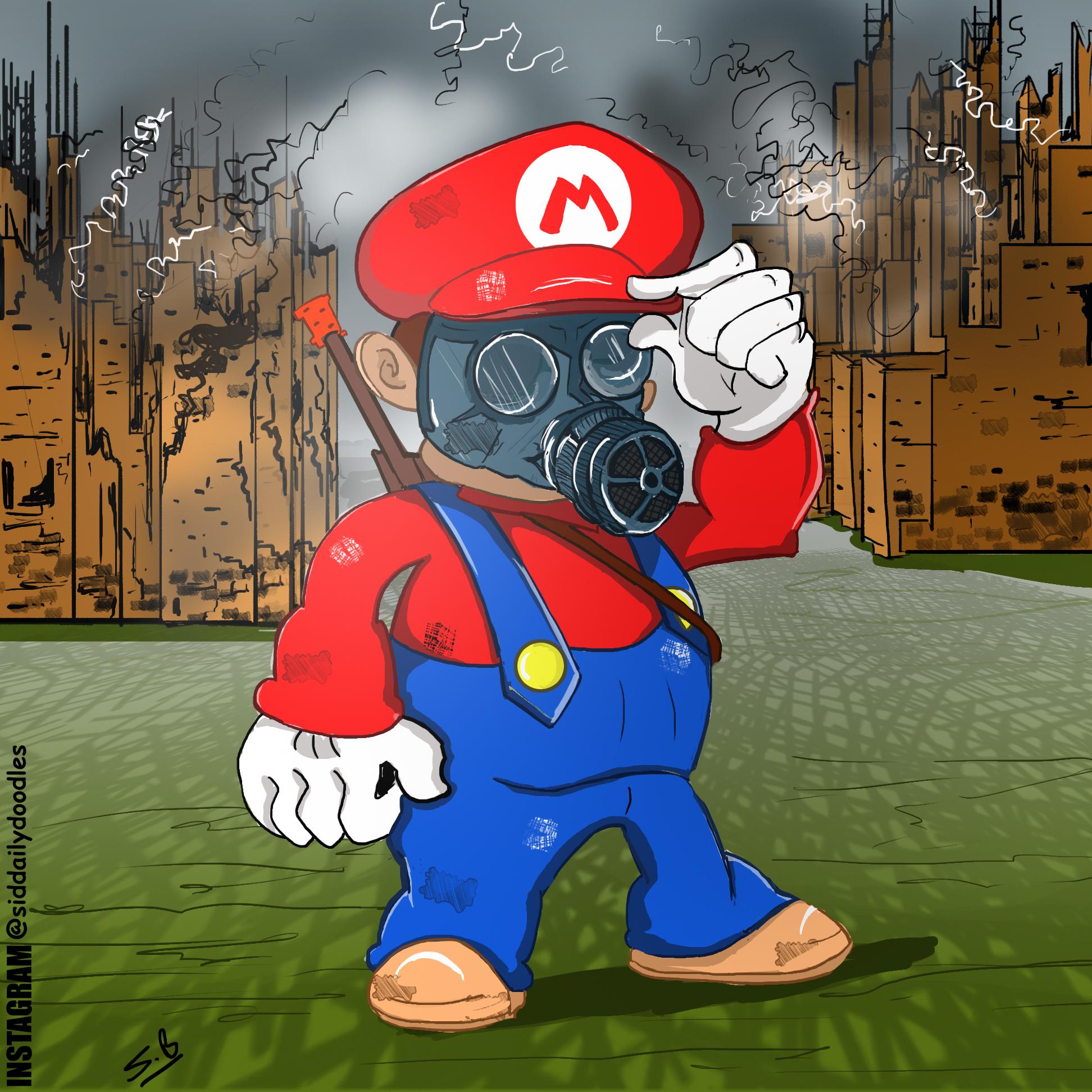 Gas Mask Mario