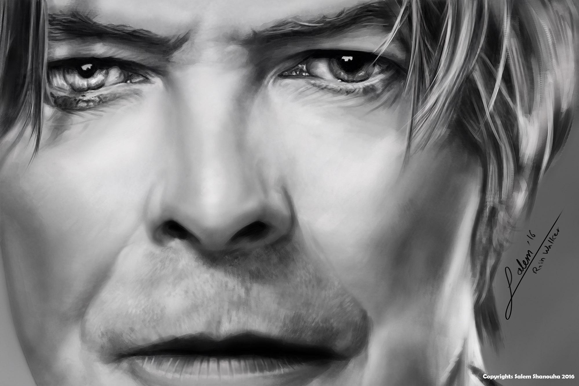 David Bowie Tribute Portrait - Farewell Ziggy Stardust