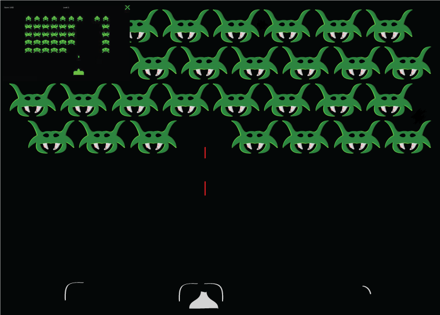 High res space invaders. (Kind of)