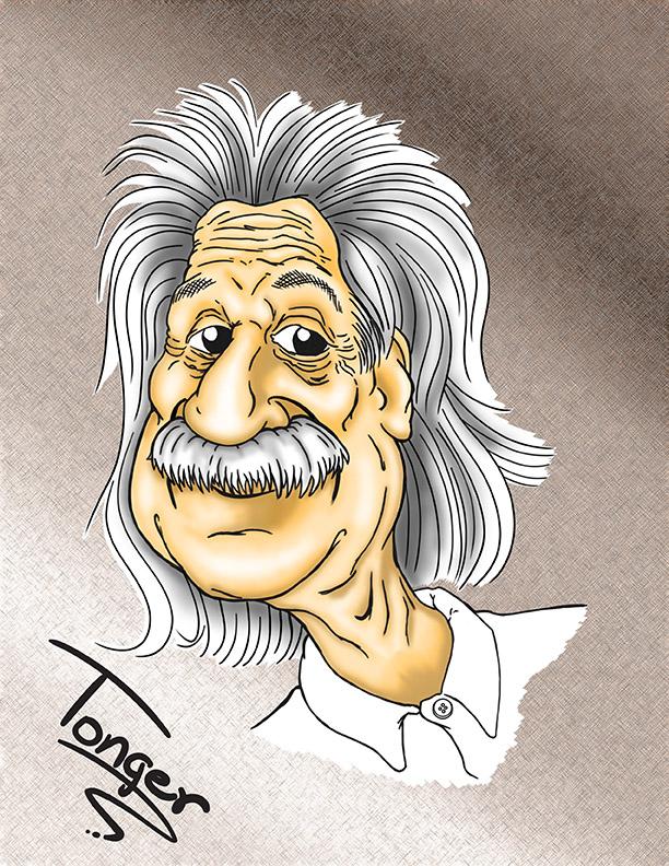 Caricature of Albert Einstein