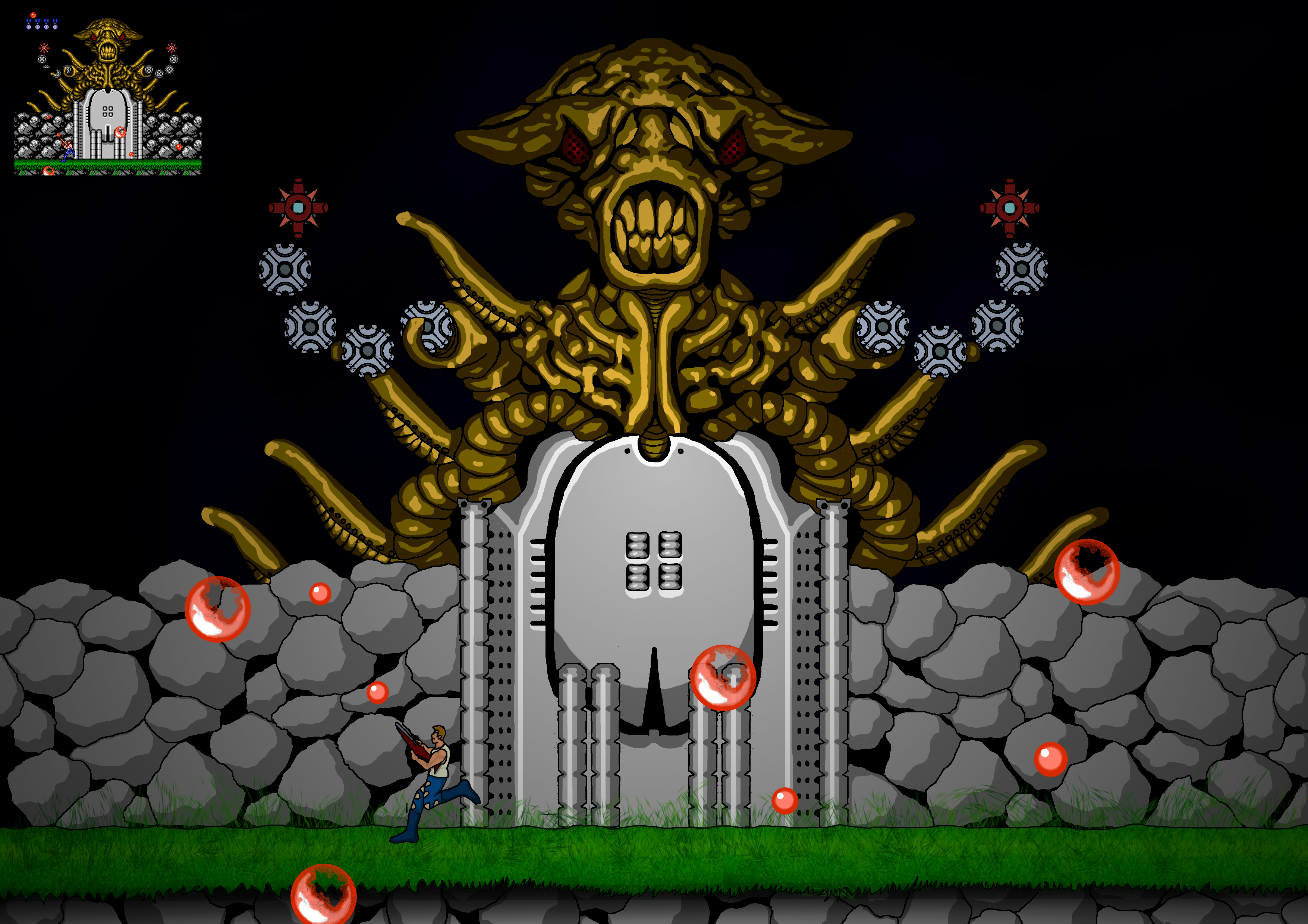 Contra Boss - Hd (Almost)
