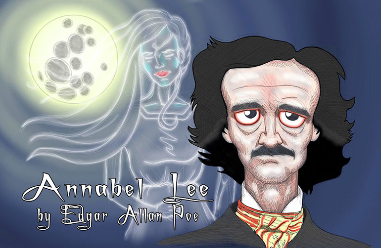 Annabel Lee - Edgar Allan Poe Caricature