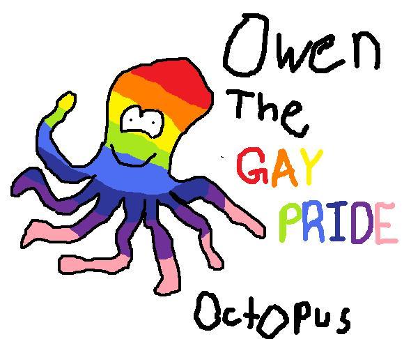 Owen. The Gay Pride Octopus