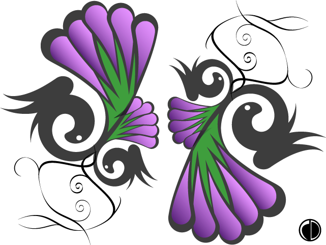 Flowers and Winged Snakes