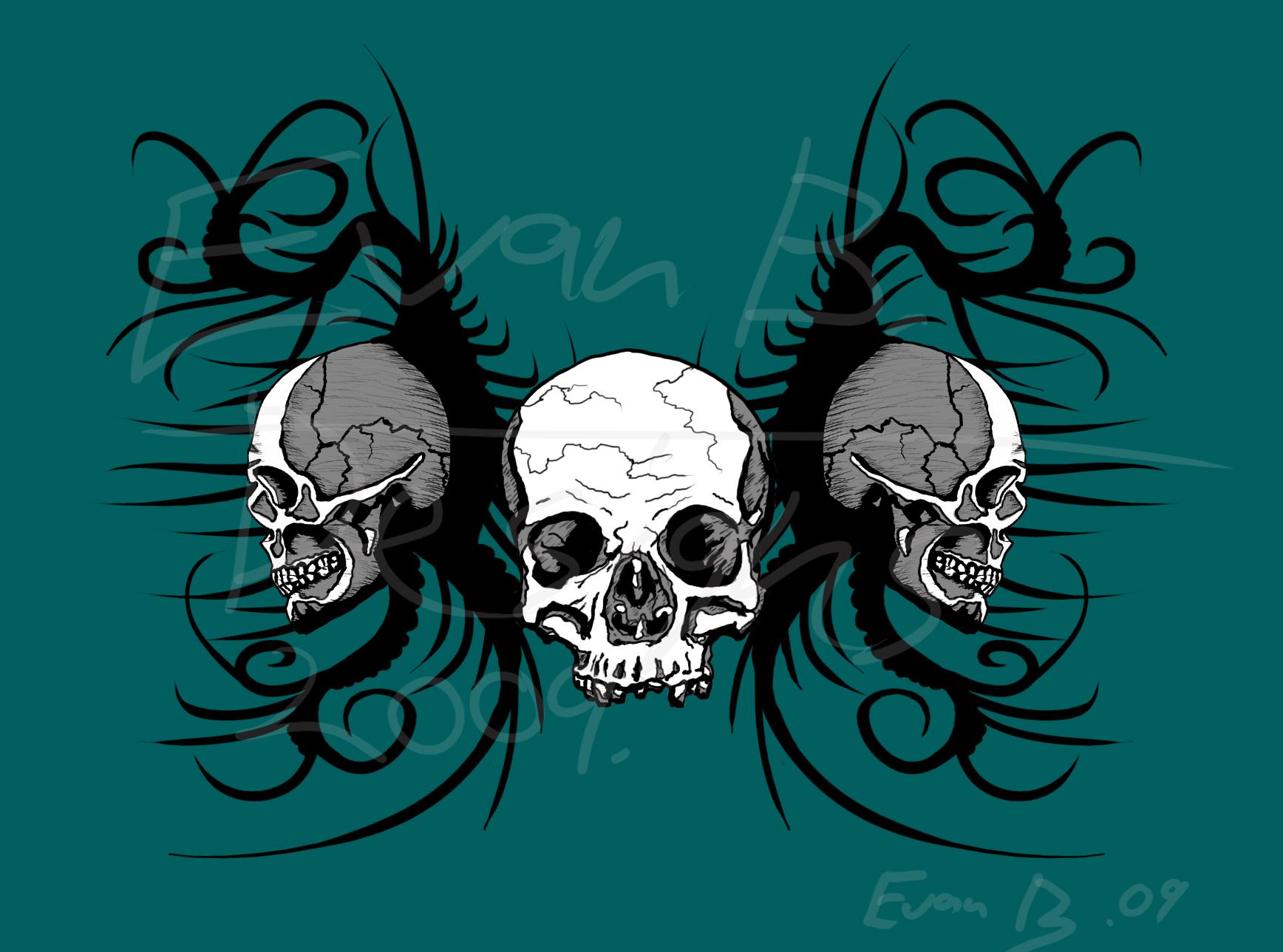 Skull Hoodie Design