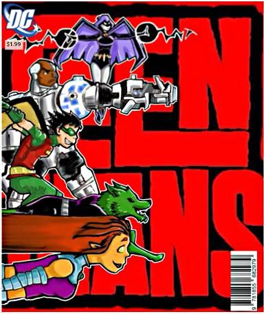 Teen titans fan art cover