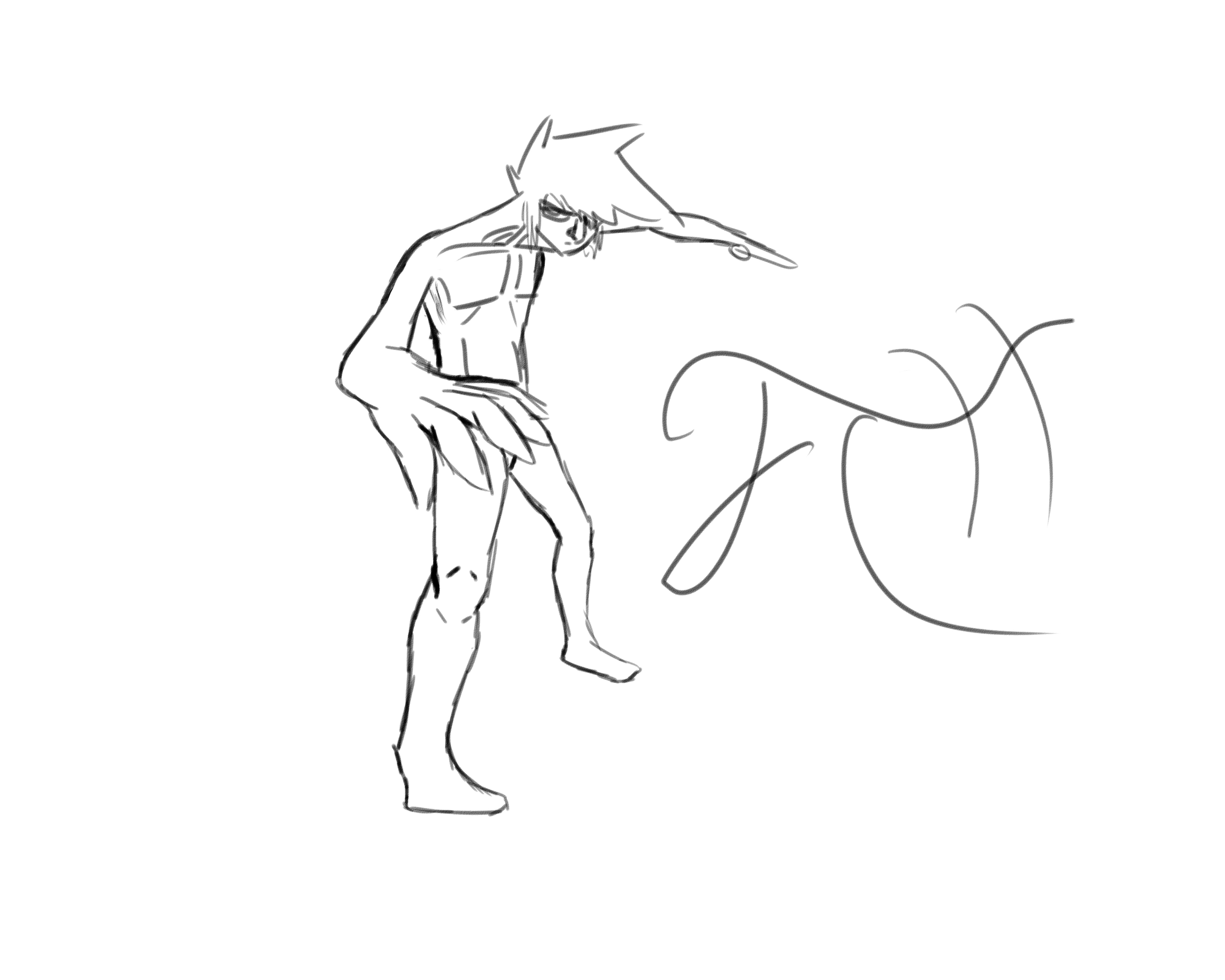 nude dude (pin up/anatomy practice)