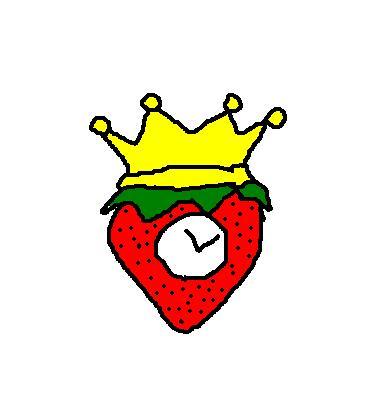 King Strawberry Clock