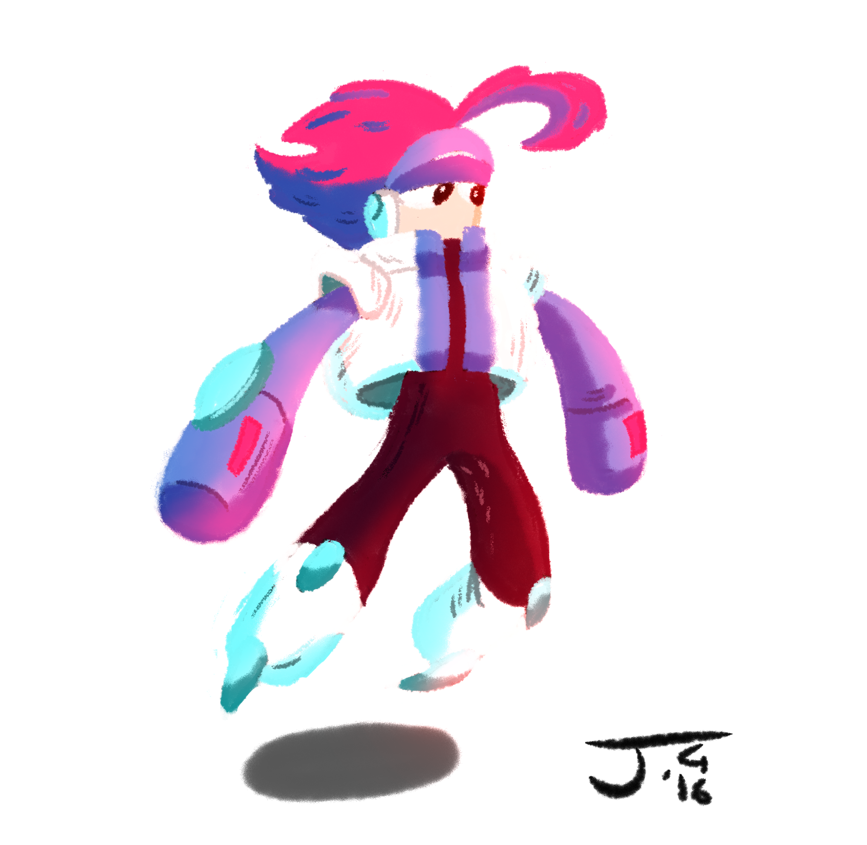 a painting of Egoraptor's character. idk his name.