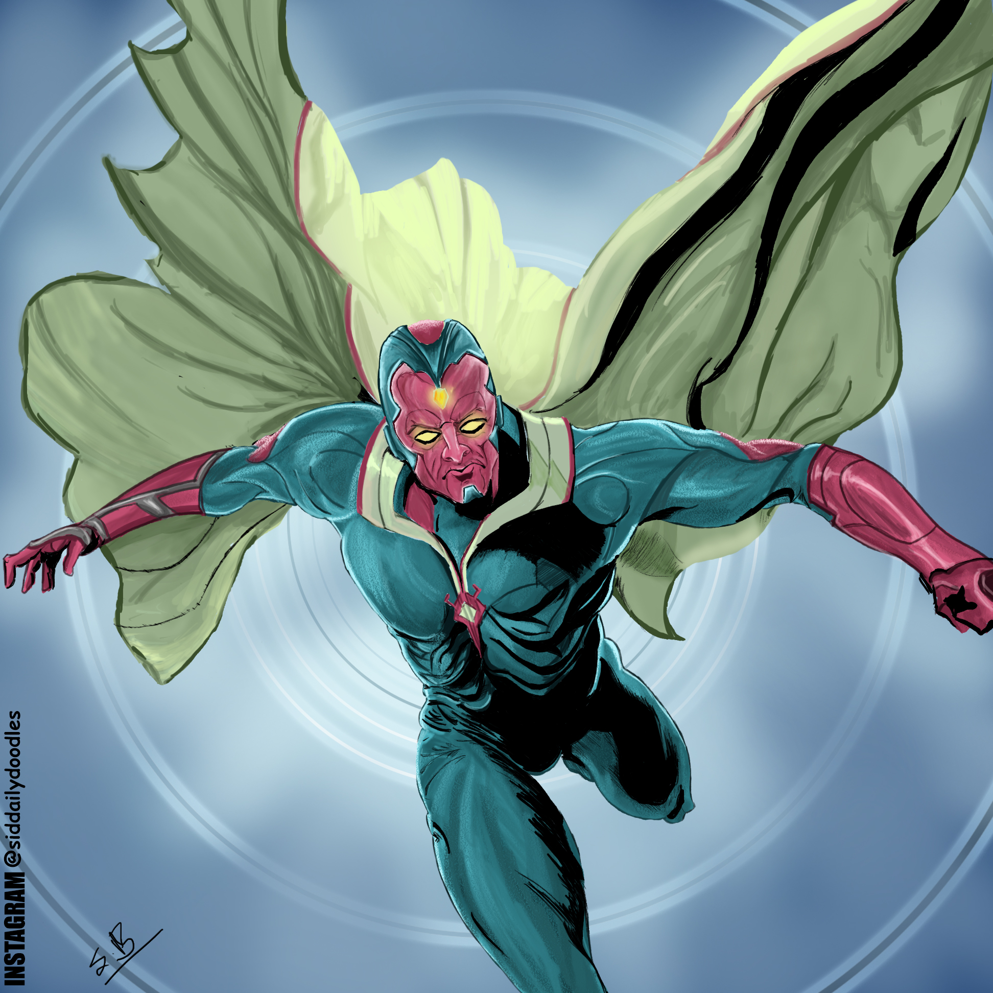 Vision from Marvel Comics