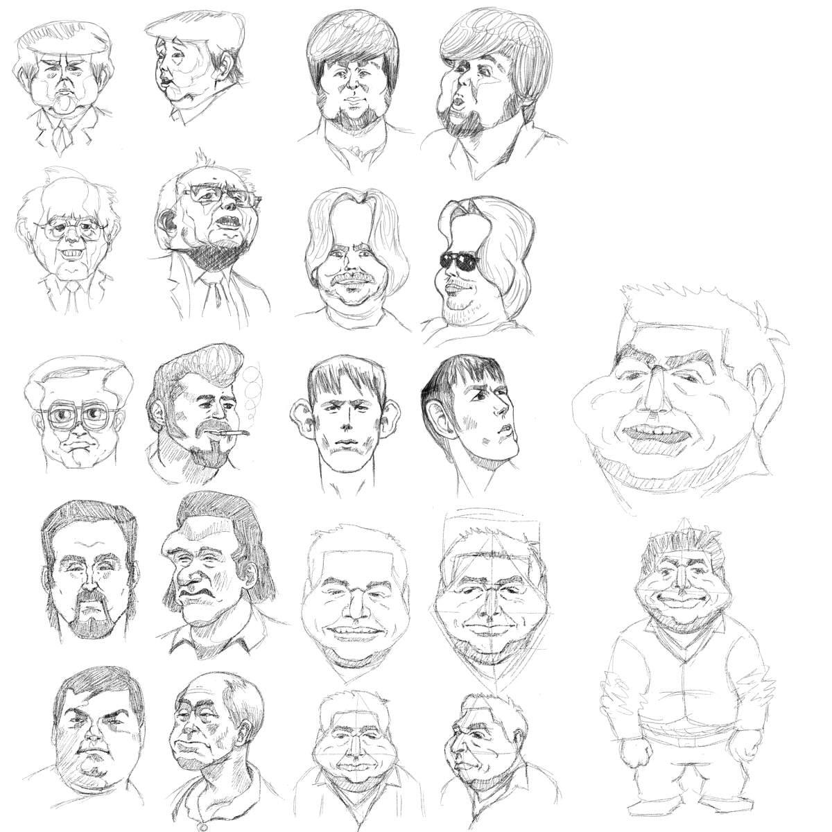 Random caricatures